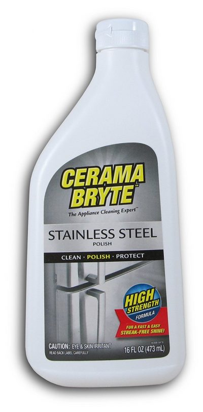 Cerama Bryte Stainless Steel Cleaning Polish with Mineral Oil