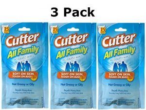Cutter All Family 15 Count Insect Repellent Mosquito Wipes