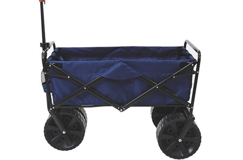 Heavy Duty Collapsible Folding All Blue/BlackTerrain Utility Beach Wagon Cart