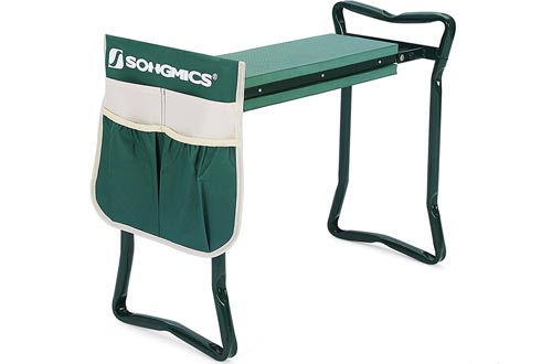 SONGMICS Garden Kneeler Seat with EVA Kneeling Pad