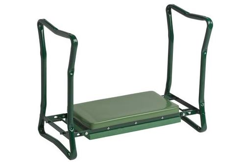 Extra Wide-Seat Folding Garden Kneeler Green