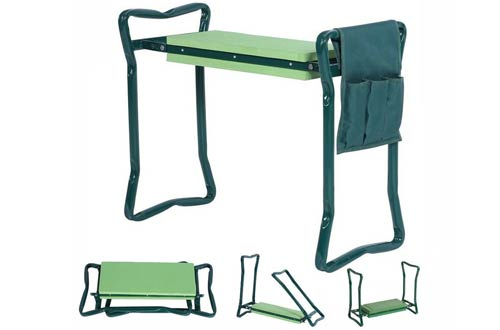 Foldable Garden Kneeler With Handles And Seat