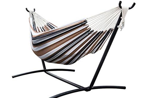 Portable Space Saving Steel Hammock Stand With Double Hammock and a Carrying Case