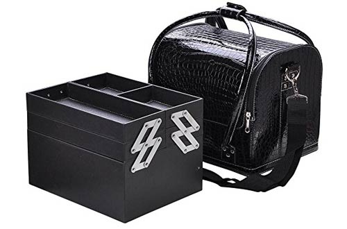 Professional Makeup Train Case, FLYMEI Large Space Make Up Artist Box