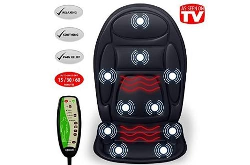 Seat Cushion Vibrating Massager for Back, Shoulder and Thighs