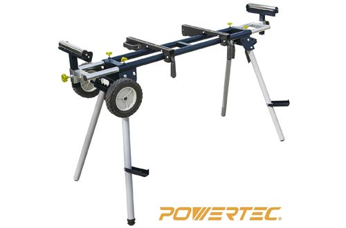 Deluxe Miter Saw Stand with Wheels and 110V Power Outlet