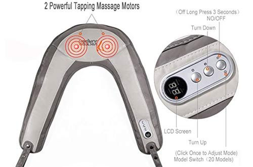 Tapping Neck and Shoulder Percussion Massager with Heat