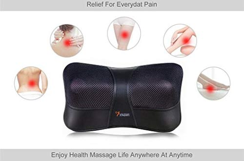 Shiatsu Kneading Massage Pillow with Heat,Neck,Shoulder & Back Massager for Home