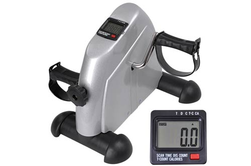 LCD Display Pedal Exerciser Mini Cycle Fitness Exercise Bike Indoor Stationary Exercise Cycling