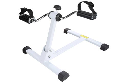 Folding Exercise Peddler Mini Indoor Adjustable Arm Leg Pedal Exerciser