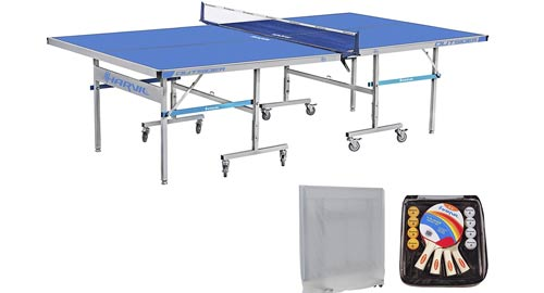 Harvil 9 Foot Outsider Table Tennis Table Folding with Complete Accessories Set