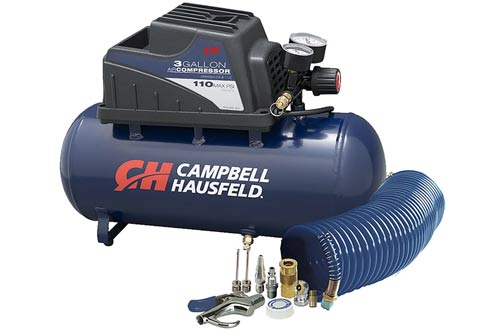 Air Compressor, Portable, 3 Gallon Horizontal