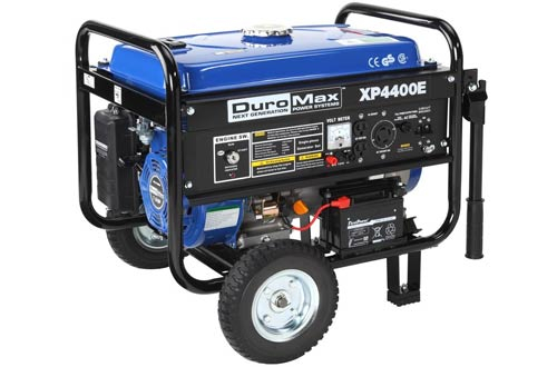 Gas Powered Portable Generator With Wheel Kit And Electric Start