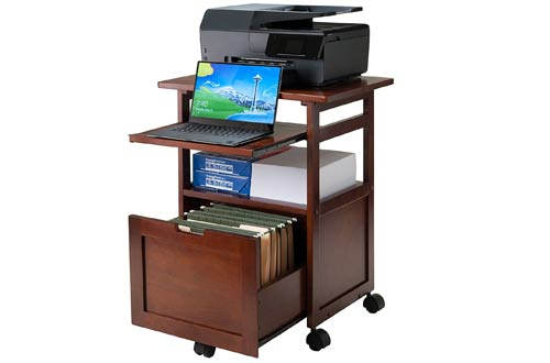 Wood Piper Work Cart/Printer Stand with Key board