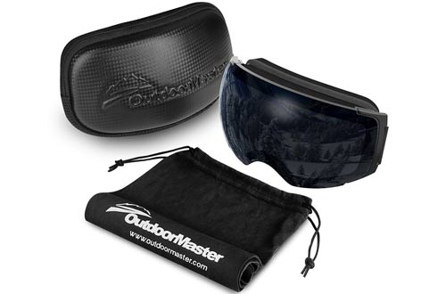 OutdoorMaster Ski Goggles PRO - Frameless, Interchangeable Lens Snow Goggles for Men & Women