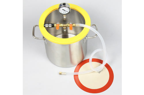 """Hydrion Scientific 3 Gallon 250mm 9.8"""" Stainless Steel Vacuum Degassing Chamber"""