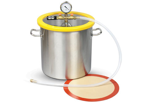 """Hydrion Scientific 5 Gallon 300mm 11.8"""" Stainless Steel Vacuum Degassing Chamber"""