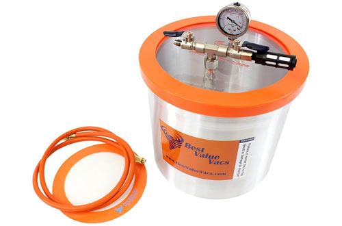 Gallon Aluminum Vacuum Chamber to Degass Urethanes, Silicones and Epoxies