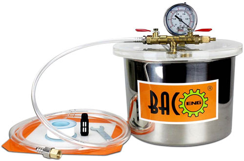 Gallon Stainless Steel Vacuum Chamber Silicone Kit for Degassing Resins