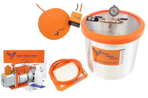 Gallon BVV Brand Vacuum Chamber with 3CFM Single Stage Vacuum Pump