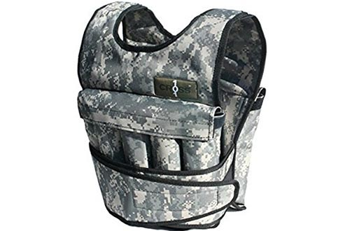 Cross101 Camouflage Adjustable Weighted Vest - without Shoulder Pads