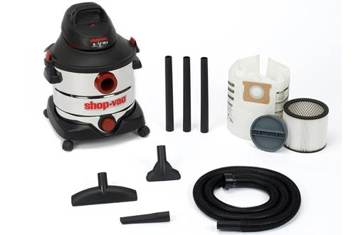 Shop-Vac 5986100 8-Gallon 5.5 Peak HP Stainless Steel Wet Dry Vacuum