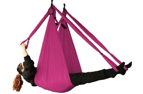 Bormart Aerial Yoga Swing - Ultra Strong Antigravity Yoga Hammock for Air Yoga Inversion Exercises