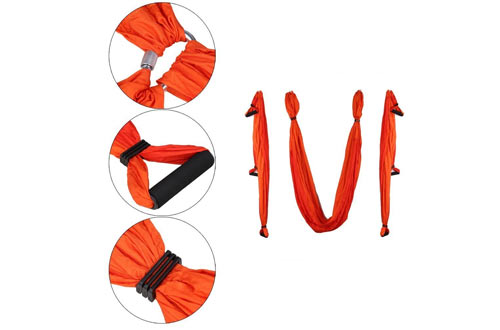 Aerial Ultra Strong Yoga Swing - Hammock/Sling/Inversion Tool for Air Yoga Inversion Exercises