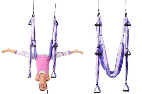 Purple Yoga Trapeze and Swing/Sling/Inversion with Free DVD