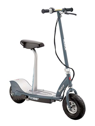 1. Razor E300S Seated Electric Scooter -Folding electric scooter with seat