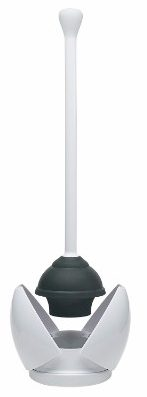 #3 OXO Good Grips Hideaway Toilet Plunger and Canister