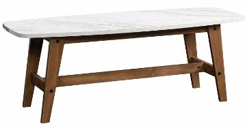 #4 Sauder Soft Modern CocktailCoffee Table in Fine Walnut Finish