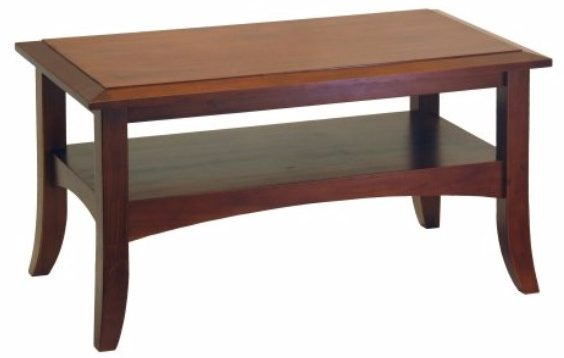 #7 Winsome Wood Craftsman Coffee Table, Antique Walnut