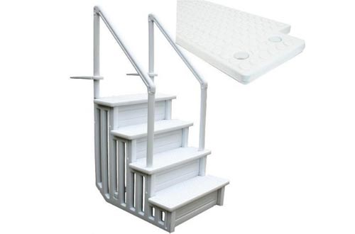 Step Above Ground Swimming Pool Ladder /W Handle Slip Prevent