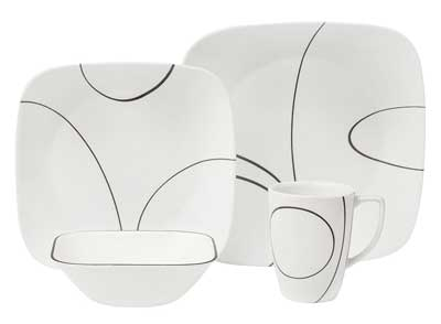 Corelle Square Simple Lines Square 16-Piece Dinnerware Set  sc 1 th 192 & Top 10 Best Dinnerware Set in 2018 - Corelle Dinnerware Set
