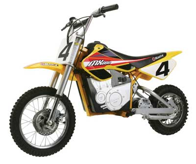 10. Razor MX650 Rocket Electric Motocross Bike