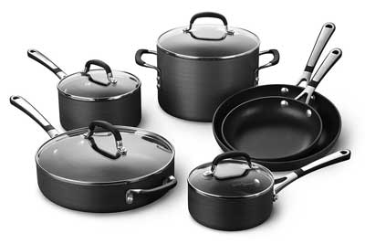 7. Simply Calphalon Nonstick Cookware Set