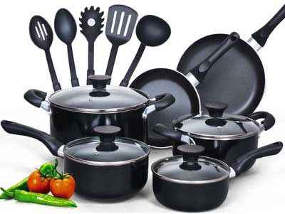 6. Cook N Home Nonstick Cookware Set