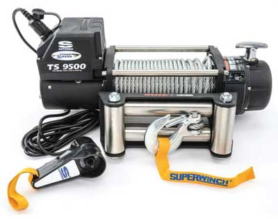 7. Superwinch 1595200 Tiger Shark 9.5, 12 VDC winch