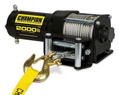 5. Champion Power Equipment 12003 2000 lb. ATV/UTV Winch Kit