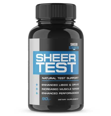 3. Sheer Testosterone Booster - Natural Supplement for Increasing Strength for Men
