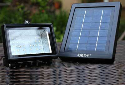 5. GRDE 30 LED Solar Flood Light