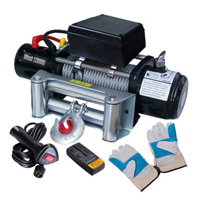 3. Yescom 12000 lb 12V 6.6 Recovery Winch