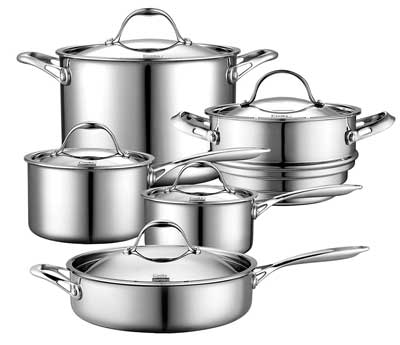 8. Cooks Standard Multi-Ply Clad Cookware Set