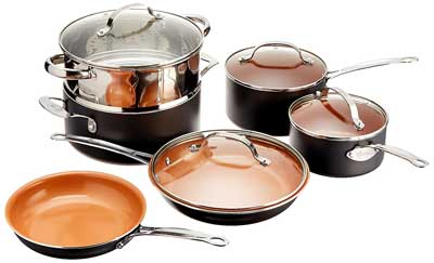 3. Gotham Steel Nonstick Frying Pan and Cookware Set