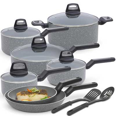 1. BLACK+DECKER Titanium Nonstick Cookware Set