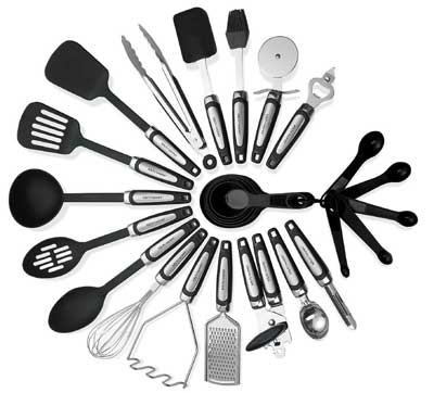6. Kitch N' Waves 26-Piece Stainless Steel Kitchen Utensil Set