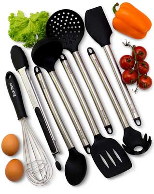 Best Kitchen Utensil Sets - Braviloni 8-Piece Kitchen Utensil Set
