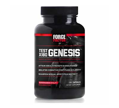 7. Force Factor Test X180 Genesis Free Testosterone Booster