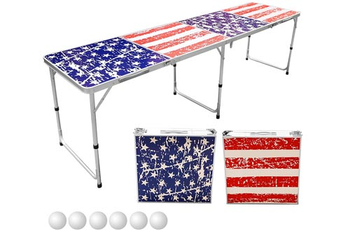 Sports Festival 8-Foot Portable Beer Pong / Tailgate Tables